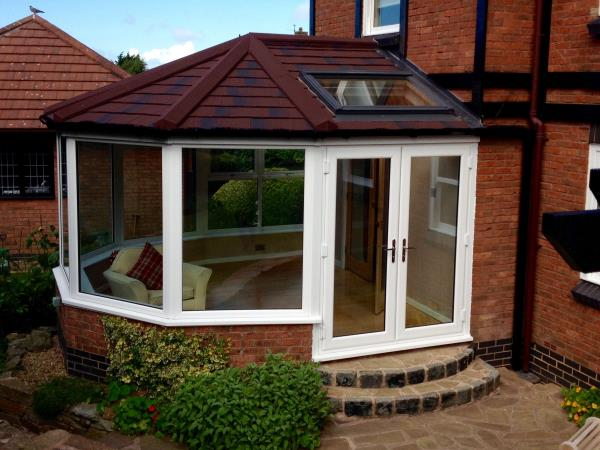 Octagonal conservatory roof with skylight fitted for client in the Thornton-Cleveleys area