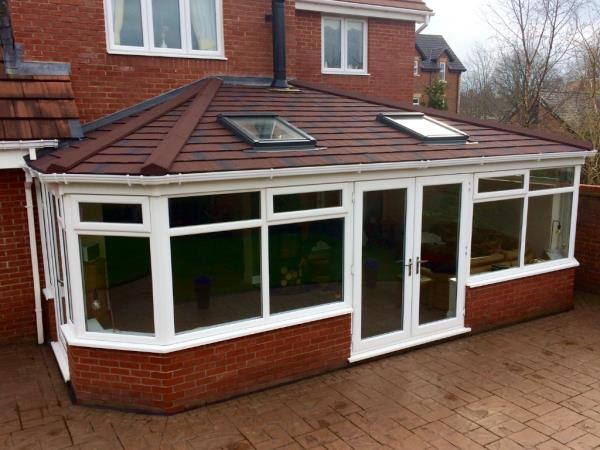 Conservatory roof conversion including velux windows and wood burner flue, Poulton-le-Fylde